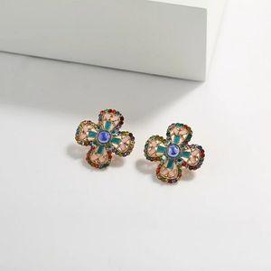 Beautiful gemstone flower earrings